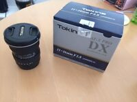 Tokina 11-16 2.8 lens Canon EF fit