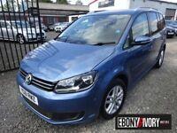 Volkswagen Touran 1.6 TDI 105 BlueMotion Tech SE 5dr (blue) 2012