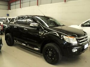 2014 Ford Ranger PX XLT 3.2 (4x4) Black 6 Speed Automatic Dual Cab Utility Edwardstown Marion Area Preview