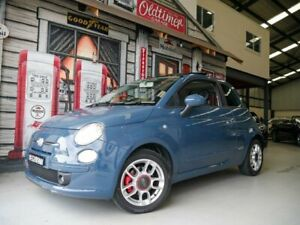 2009 Fiat 500 Series 1 Sport Blue Grey 6 Speed Manual Hatchback Rydalmere Parramatta Area Preview