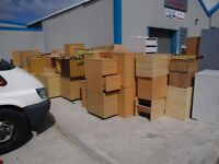 free wooden office pedestals and filing cabinets read discription