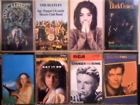 THE ALMIGHTY, BEATLES, BJORK, BLACK CROWES, BLIND FAITH, BOLAN & T. REX, DAVID BOWIE CASSETTE TAPES.