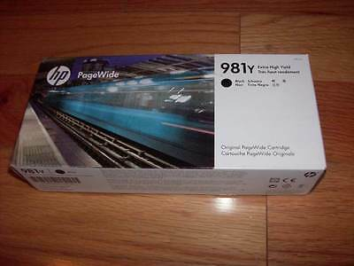 2020 GENUINE HP 981y BLACK EXTRA HI-YLD INK LOR16A PAGEWIDE ENTERORISE 556 586 (Hi Yld Cyan Ink)