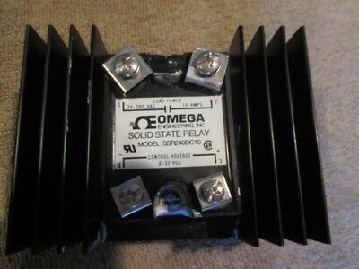 Omega Engineering Ssr240dc10 Solid State Relay With Heat Sink Lot Of 3