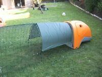 omlet eglu rabbit /guinea pig run cage / hutch with 2 meter run