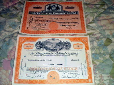 Pennsylvania Railroad stock certificates Horseshoe Curve PRR railway 2-4-1 price