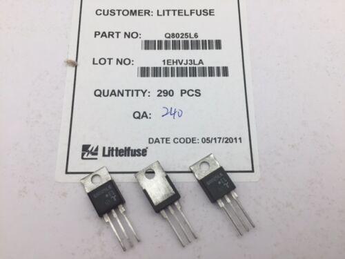 (5 pcs) Q8025L6 Littelfuse, 800V 25A 80-80-80mA, TRIAC, Alternistor, (TO-220)