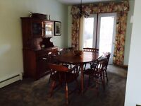 Beautiful Roxton Solid Maple Dining Room Set with Buffet