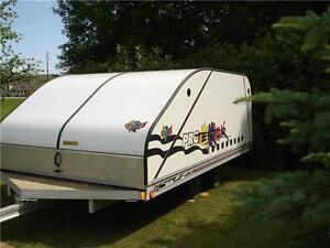 Floe 8x12 V-Front Enclosed Snowmobile Trailer