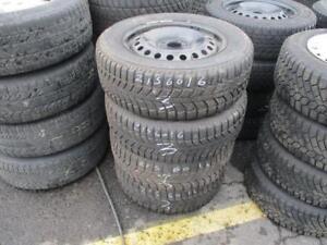 215/60 R16 WINTER TIRES ON RIMS UNIVERSE USED SNOW TIRES (SET OF 4) - APPROX. 75% TREAD