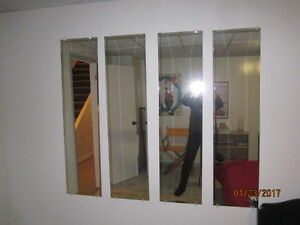 Bevelled Mirror Panels X 4
