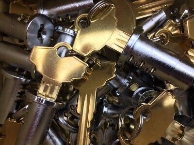 Lot 10 Locks And Keys Fits Most Bulk Gumball Candy Nut Vending Machine Oak Nw
