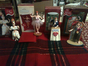 Four I Love Lucy Collectible Christmas Ornaments