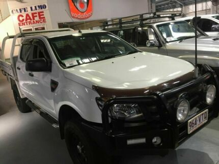2012 Ford Ranger PX XL Double Cab White 6 Speed Sports Automatic Cab Chassis Tingalpa Brisbane South East Preview