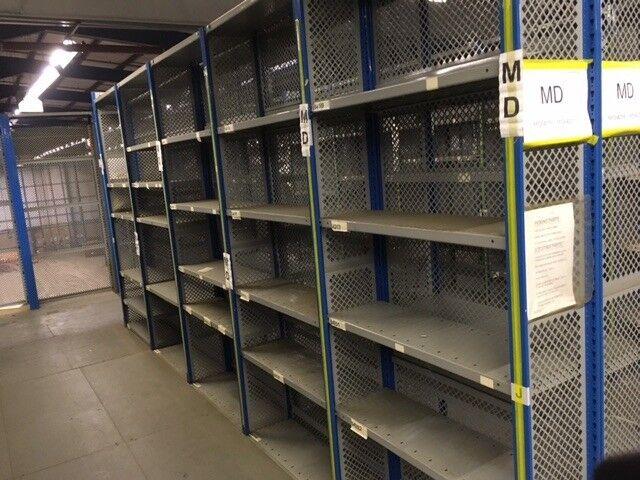 job lot 5 bays dexion impex industrial shelving ( storage , pallet racking )