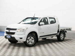 2013 Holden Colorado RG MY14 LX (4x4) White 6 Speed Automatic Crew Cab Chassis