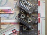 JL CHEAPEST ONLINE 5x TDK D 120 D120 CASSETTE TAPES 1997-2001 W/ CARDS CASES LABELS ALL VGC