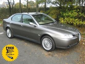 2004 54-reg Alfa Romeo 166 2.0 T/S Lusso manual only one former keeper and cambelt as been replaced