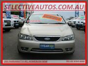 2005 Ford Fairmont BF Ghia Beige 6 Speed Auto Seq Sportshift Sedan Homebush Strathfield Area Preview