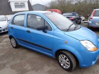 2007 Chevrolet Matiz 800cc 5 door MOT'd 1 Year 33,800 Miles £995