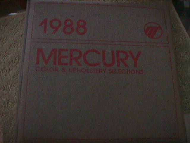 SCARCE 1988 MERCURY DEALER COLOR AND UPHOLSTERY SHOWROOM ALBUM