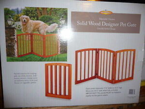 Wooden Pet Gate Cherry  Color, Brand New   Selling  each