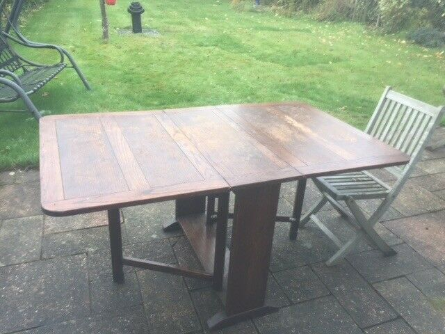 Vintage folding / Drop leaf table. Ideal for space saving and entertaining