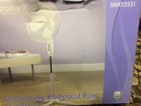 Micromark Pedestal Fan New Boxed