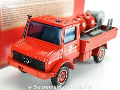 MERCEDES UNIMOG FIRE ENGINE MODEL TRUCK 2183 1/43RD SCALE RED EXAMPLE T3412Z=