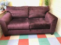 2 seat sofa hardly used