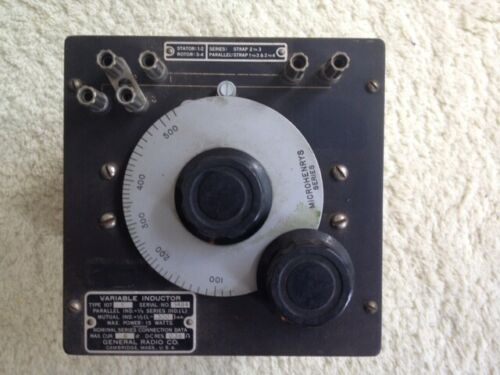 Variable Inductor type 107 K, 107 N 107 L and J, General Radio Co.