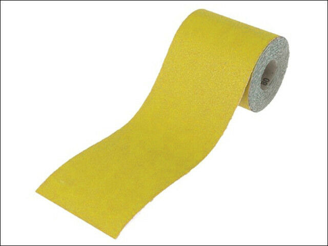 FAITHFULL 115mm WIDE YELLOW A/O ABRASIVE SANDING ROLL - Various Lengths & Grits