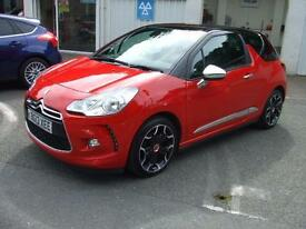2013 Citroen DS3 1.6e-HDi ( 115bhp ) Airdream DSport Plus Leather Seats Zero Tax