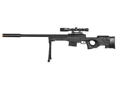 300 FPS - Airsoft Sniper Rifle Gun - Tactical Setup - 37 3/4 Inch Length -BLACK-