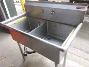 MKE Stainless Steel double sink! Study commerical sink !