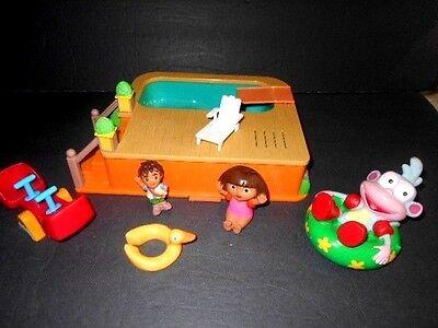 Dora The Explorer Swimming Pool  with Accessories Talking - Dora G