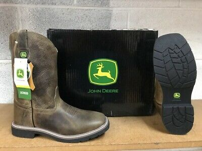 JOHN DEERE BOOTS  #3575 YOUTH (BIG KIDS) LEATHER BOOTS