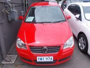 2008 Volkswagen Polo 9N MY08 Upgrade Pacific Red 5 Speed 5 SP MANUAL Hatchback Braddon North Canberra Preview