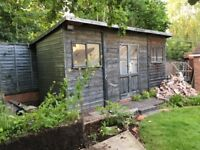 SOLD !! Thanks to all who enquired. Strong insulated wooden shed/workshop 1.8m x 5.5m.