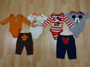 Boys pajamas and outfits 0-6 months (perfect for twins)