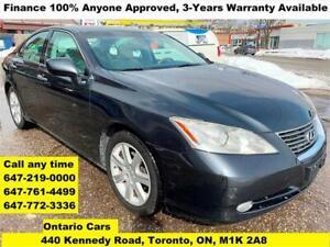 2007 Lexus ES 350 Finance 100% Approved 3-Years WARRANTY MINT
