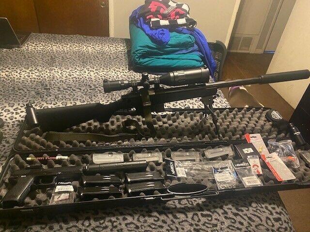 Novritsch SSG10 Airsoft Sniper Rifle + many Xtras