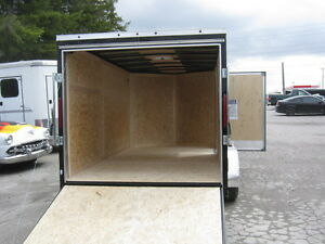 "7X14 + 30"" VNOSE TANDEM AXLE TRAILER WITH REAR RAMP Oakville / Halton Region Toronto (GTA) image 4"