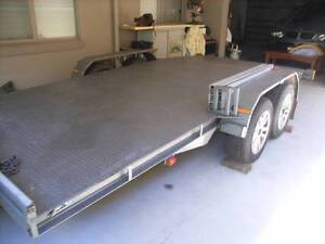 Beavertail car trailer, elec winch, toolbox,  as new Wauchope Port Macquarie City Preview