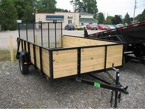 6.5X12 Wood Sided Utility Trailers **only 1 left**