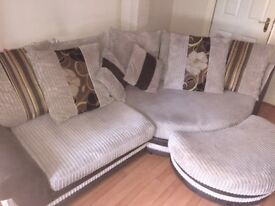 Corner sofa and cuddle chair for sale