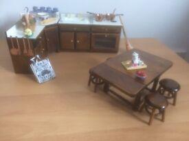 Dolls house kitchen period furniture pack