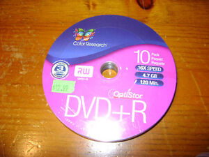 BRAND NEW Color Research DVD+R/RW Unopened 10pk