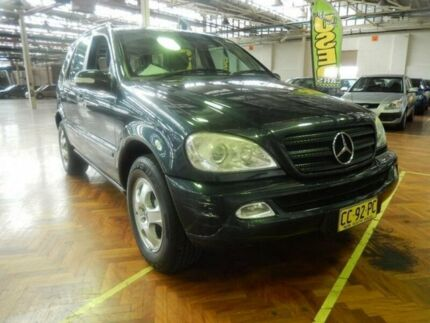 2003 Mercedes-Benz ML W163 350 Luxury (4x4) Blue 5 Speed Auto Tipshift Wagon Milperra Bankstown Area Preview
