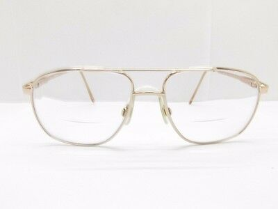 Marchon NYC East Side Jonathan 2 Eyewear FRAMES 56-16-140 Gold Aviator TV6 30542